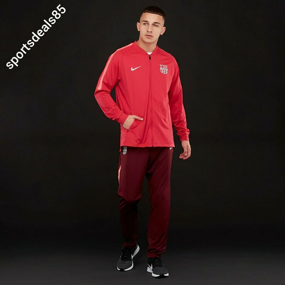 ab05b5e07b7 Details about Nike FC Barcelona 2018-2019 Tracksuit Dry Squad Top   Bottoms  894341-691 - Large