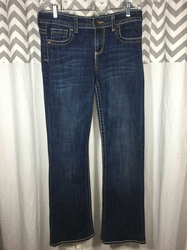 43829732b4f8b Details about KUT from th Kloth Size 8 Dark BUtton Flap Bootcut PERFECT  Jeans Denim Women's