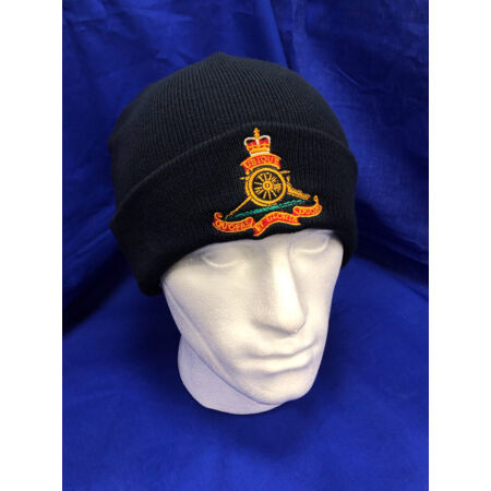 img-The Royal Artillery woolen beanie hat with gunners cap badge