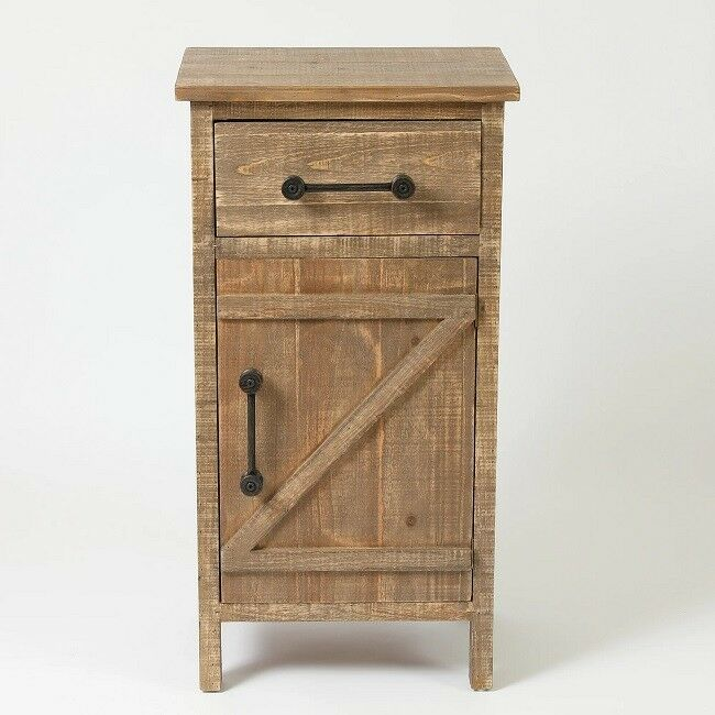 Details About Small Storage Cabinet With Drawer Rustic Cabinets Console Wood Distressed Finish