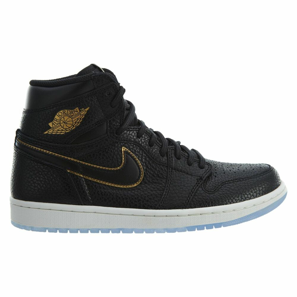online store de644 0af72 Details about Nike Air Jordan 1 Retro High OG LA Mens 555088-031 Black Gold  Shoes Size 10.5