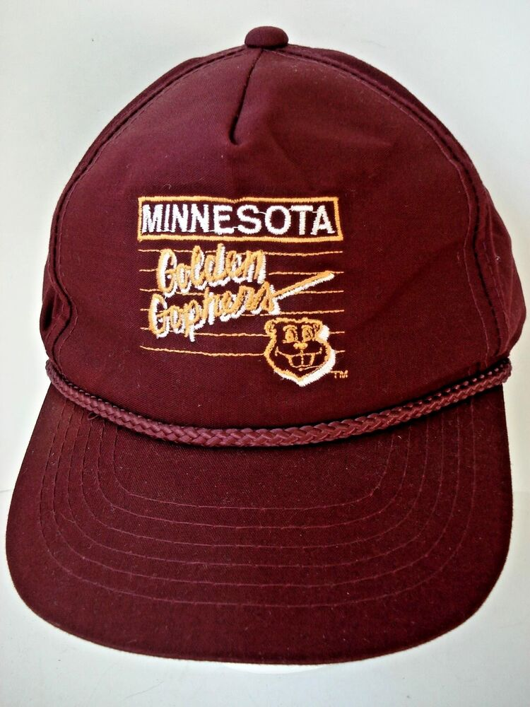reputable site f2932 c02a5 Details about Vintage 1990 s Minnesota Golden Gophers Goldy Mascot Adult  Snapback Cap Hat NCAA