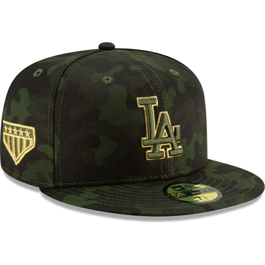 innovative design d66d6 ffee0 Details about Los Angeles LA Dodgers New Era 2019 MLB Armed Forces Day  59FIFTY Fitted Cap Hat