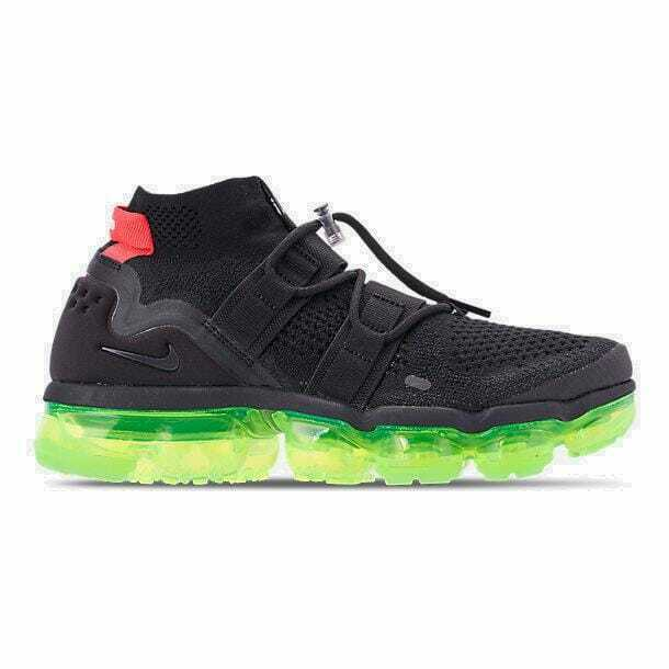 6f5becdda4 Details about Men's Nike Air VaporMax Flyknit Utility Black/Volt/Bright  Crimson AH6834 007