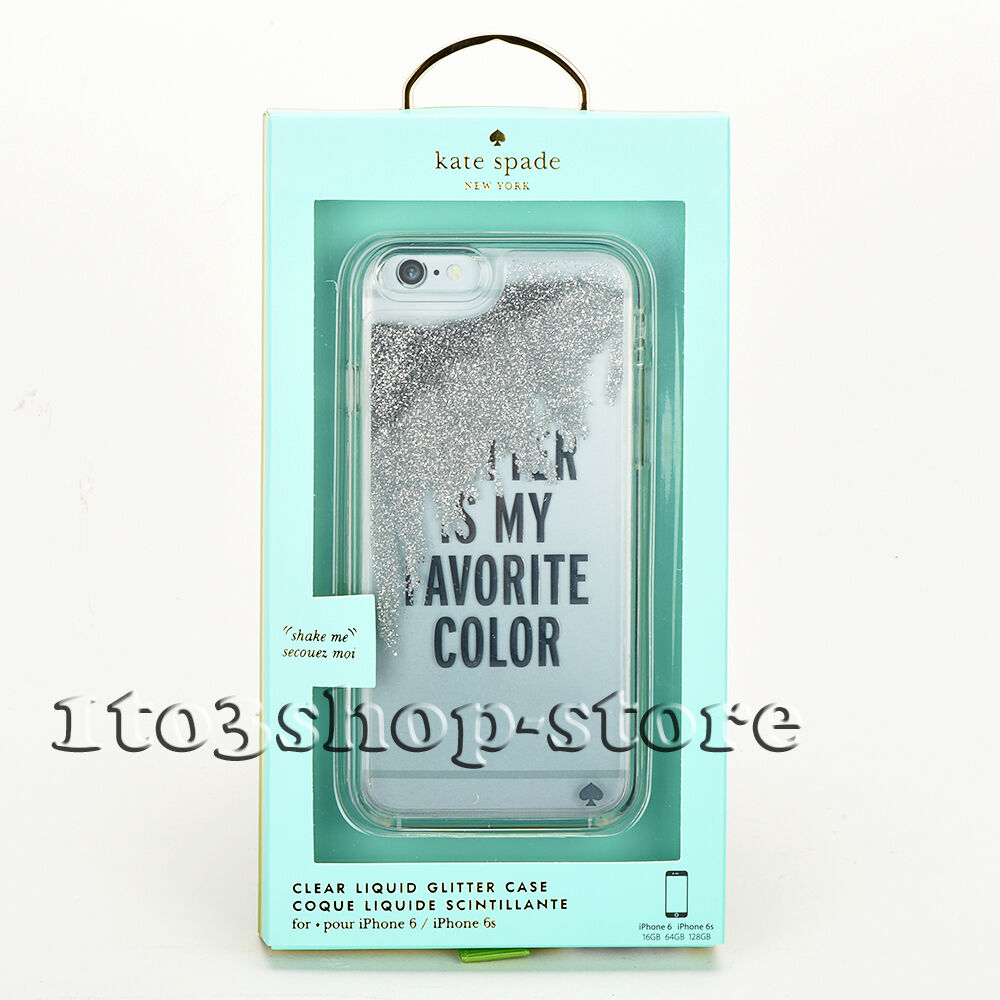 new style 5c7fb 547ac Kate Spade iPhone 6s iPhone 6 Hard Snap Case Silver Glitter is My Favorite  Color 840076167432 | eBay