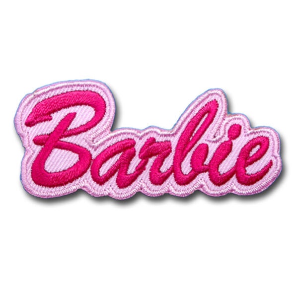 Barbie Patch Embroidered Iron on  Rockabilly Doll Cartoon applique Cute Tag Kids