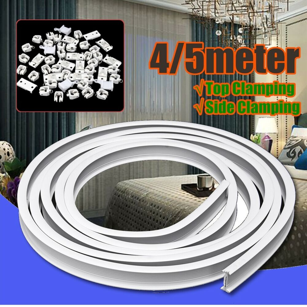 Ceiling Mounted Flexible Curtain Track: 4/5m Flexible Ceiling Mounted Curtain Track Rail Straight