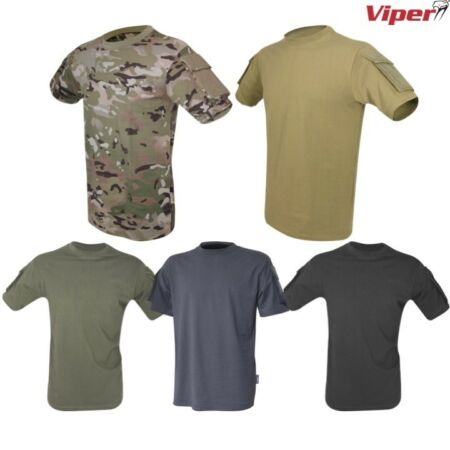 img-VIPER TACTICAL T-SHIRT MENS S-3XL HEAVYWEIGHT TOP SECURITY AIRSOFT ARMY MTP CAMO