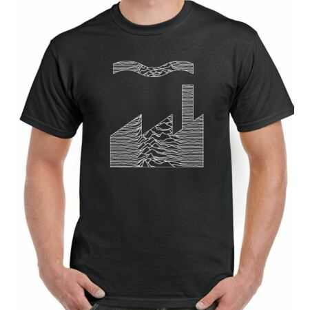 img-Factory Records T-Shirt FAC51 Joy Division Mash Up Mens Unknown Pleasures CD