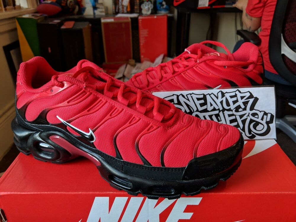 12e1e01a23 Details about Nike Air Max Plus TN Tuned 1 University Red Black White Bred  Running 852630-603