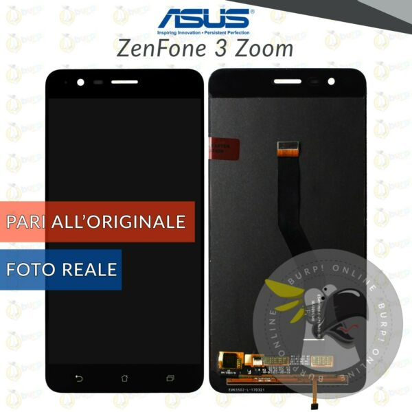 DISPLAY LCD + TOUCH SCREEN ASUS ZENFONE 3 ZOOM ZE553KL Z01HD VETRO NERO SCHERMO