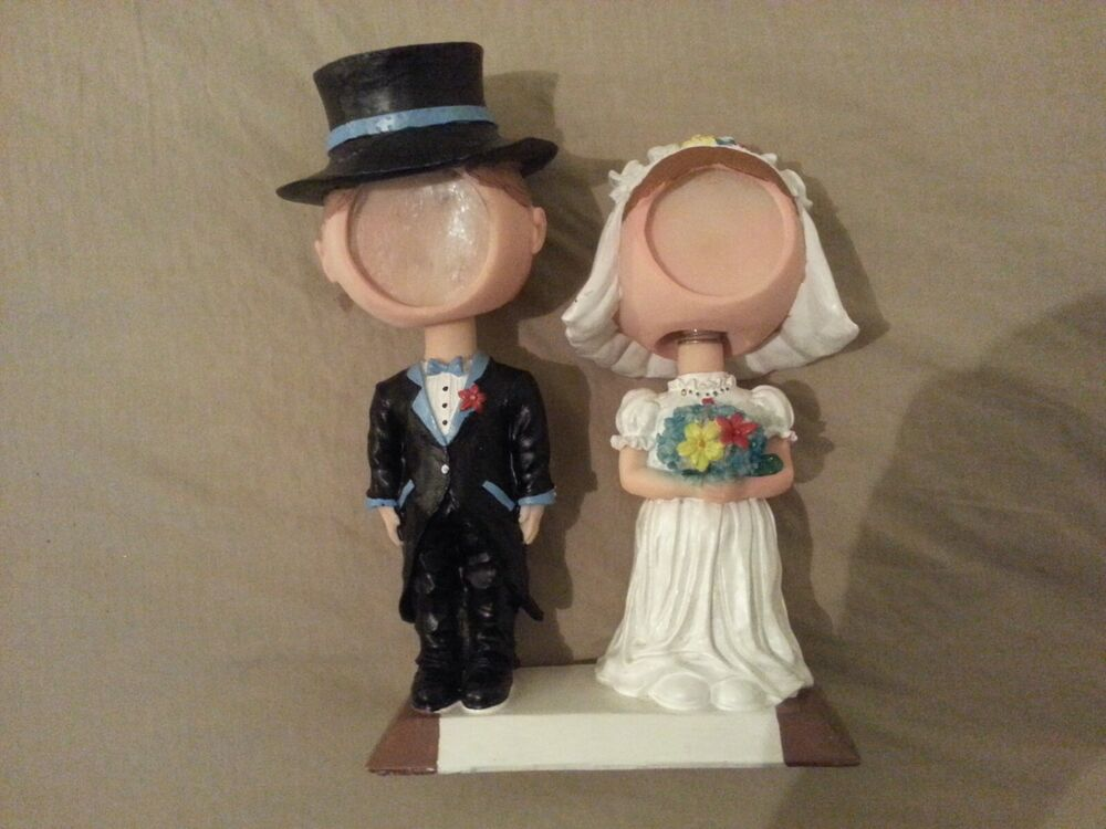 Groom Wedding Gifts From Bride: Melannco Wedding Couple Bobblehead Gift Picture Frame Gift