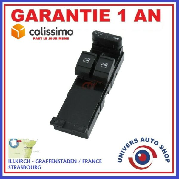 COMMANDE BOUTON LEVE VITRE 10 BROCHE FORD SEAT VW OEM: 7M6959857A