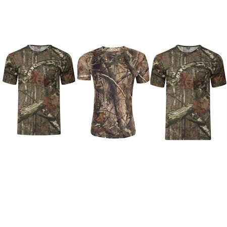 img-Mens Summer Tree Jungle Forest Camouflage Print Round Neck Short Sleeved T Shirt