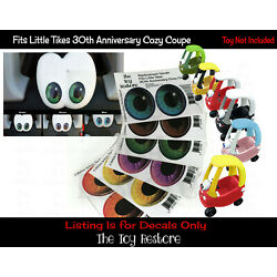 Eye Replacement Stickers For Little Tikes custom cozy coupe 30th Ann Ride-on car