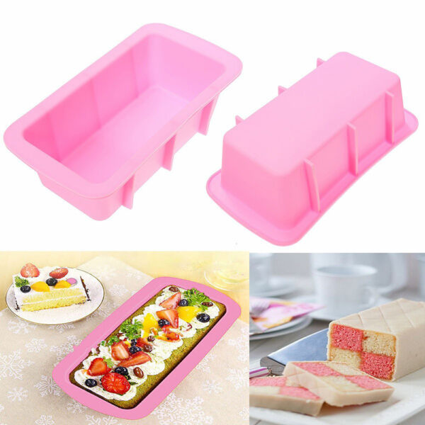 Silicone Bread Loaf Mold Cake Baking Pan Oven Rectangle Baking Tool Mold Fashion
