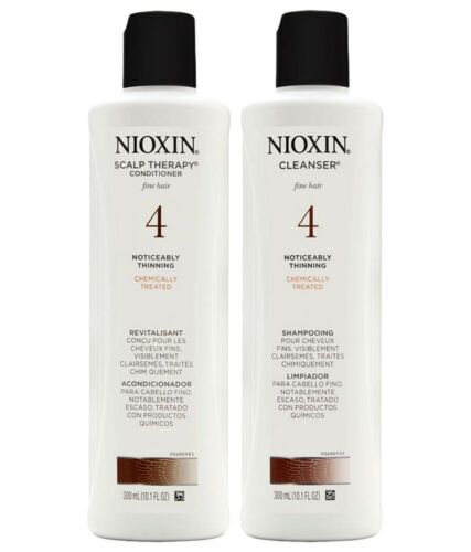 Nioxin Scalp Therapy Conditioner+Cleaning Shampoo #4 Fine Hair Care Duo 10.1 oz