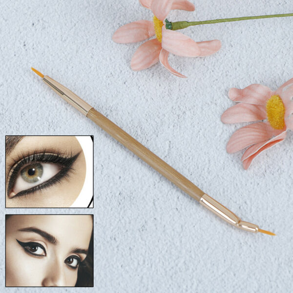 Pinceau Double Contour Des Yeux Eye Liner Brush Eyeliner Gel Maquill FE