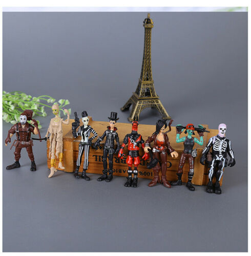 Fortnite 8 pcs Action Figures Set Cake Topper Birthday Party Toys Gift