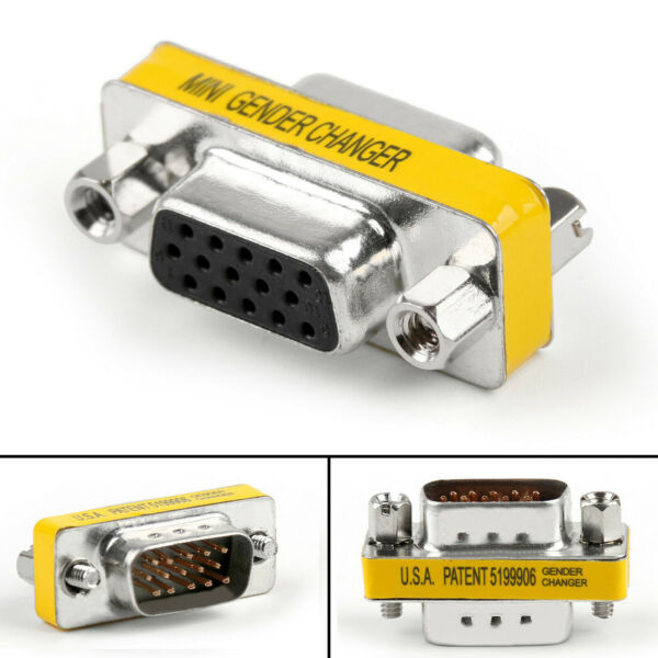 Adattatore Convertitore Mini Gender Changer VGA DB 15 poli Maschio / Femmina