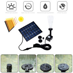 Kyпить Solar Power Fountain Submersible Water Pump With Filter Panel Pond Pool 150L/h на еВаy.соm
