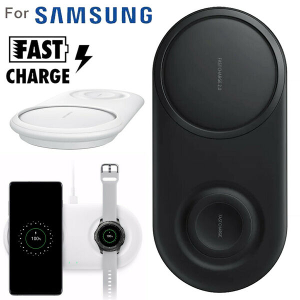 Fast Samsung Qi Wireless Charger Pad Duo Galaxy S10 S10+ Note9&Gear S2 S3 Watch