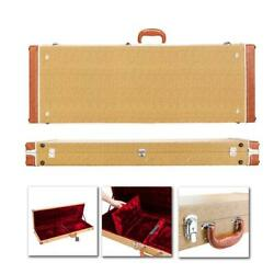 Yellow Square Electric Guitar Hard Lockable Carrying Case