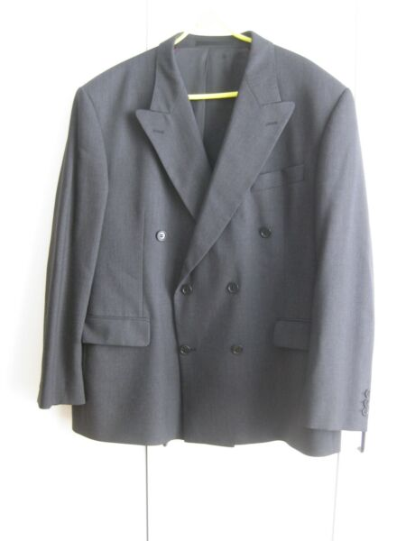 Mens Marks & Spencer Tailoring Charcoal Jacket 44 in SHORT VG Cond 100% Wool