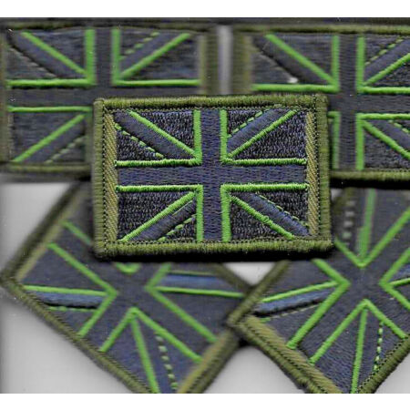 img-Union Jack Patch MTP Small Badge TRF Military Army Subdued Green