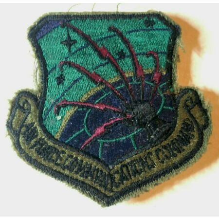 img-USAF Air Force Communications Command Subdued Insignia Badge Patch Obsolete