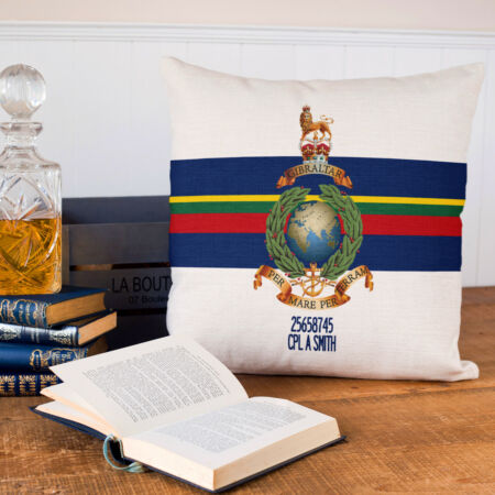 img-Royal Marines Cushion Cover Commando Military Christmas Gift Dad Personalised