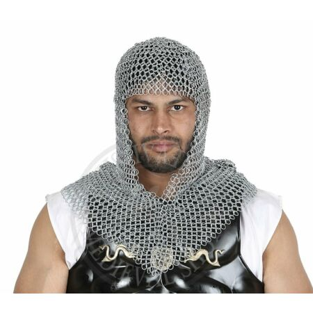 img-chain Mail Coif butted Medieval Armour Hood Larp Reenactment Armor chainmail New