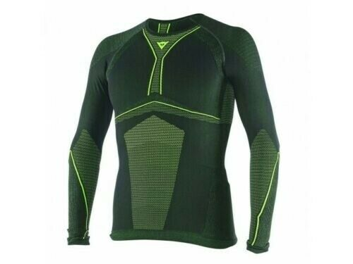 MAGLIA TERMICA MANICA LUNGA DAINESE BLACK/FLUO-YELLOW D-CORE DRY TEE LS TG L
