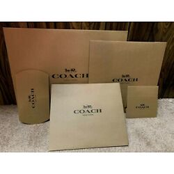 Kyпить BN Coach Gift /packing Brown Box ,Paper Bags ,Sticker choose, Large,Medium,Small на еВаy.соm
