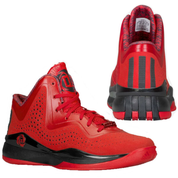 Adidas Derrick Rose 773 III Mens Basketball Trainers Sports Red Black S85256 B2A