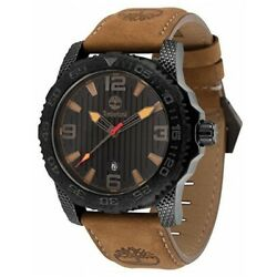 TIMBERLAND Men's Quartz Watch with Brown Leather Strap 13613JSUB/02A