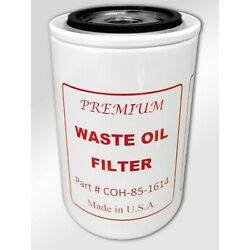 Premium Waste Oil Filter COH-85-1614, Replaces Lenz Pt # CP-752-100M Made in USA