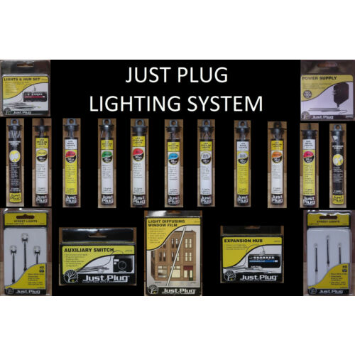 Just Plug Lighting System - Woodland Scenics - Choose Your Items - FREE SHIPPING
