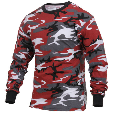 img-LS T-shirt Red Camo Long Sleeve Camouflage Cotton Poly Blend Rothco 3173