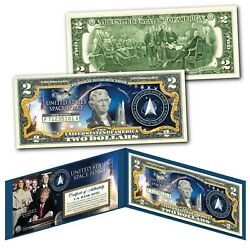 Kyпить United States Space Force USSF 6th Military Branch Genuine U.S. $2 Bill with COA на еВаy.соm