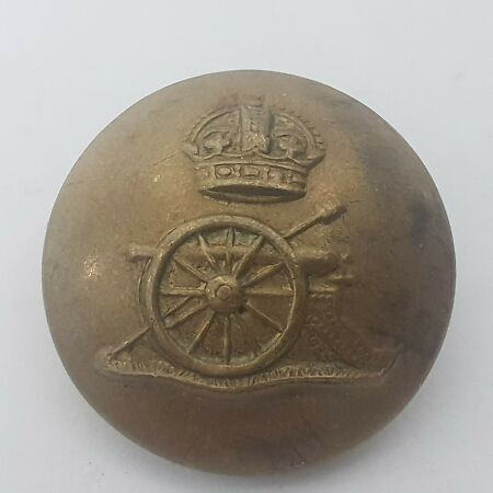 img-WW2 era Royal Artillery 23mm brass button stamp Gaunt