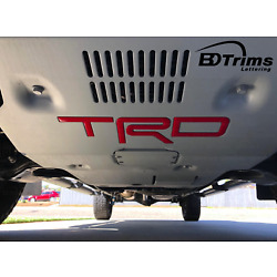 Kyпить Red Domed 3D Letters fits TRD Skid Plate Tacoma 2016-2020 - 4Runner 2019-2020 на еВаy.соm