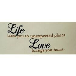LOVE BRINGS YOU HOME Classic Designer Vinyl Wall Lettering Home Decor 27x13 B205