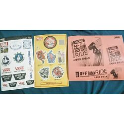 Lmtd Edition VANS OF THE WALL Seoul Sticker Set Collectable New House of Vans