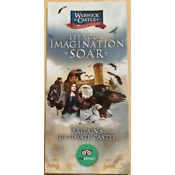 Warwick Castle 2019 Leaflet, Merlin Entertainments, NEW The Falconer's Quest
