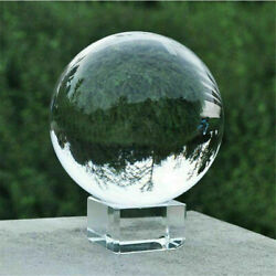 Kyпить 60/80mm K9 Clear Photography Crystal Ball Sphere Decoration Lens Photo + Stand на еВаy.соm