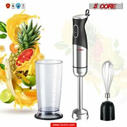 Kyпить 5 Core Hand Blender 400 WT 2-Speed 9 Modes Immersion S.Steel+ Whisk 800ml Cup на еВаy.соm
