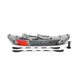 Kyпить Intex Dakota K2 2 Person Vinyl Inflatable Kayak and Accessory Kit w/ Oars & Pump на еВаy.соm