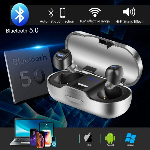 Auricolari Bluetooth 5.0 Stereo Wireless Senza Fili SPORT Samsung iPhone Huawei