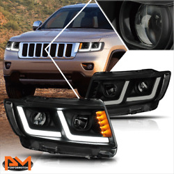 Kyпить For 11-13 Grand Cherokee LED DRL+Signal Projector Headlight/Lamps Tinted/Clear на еВаy.соm